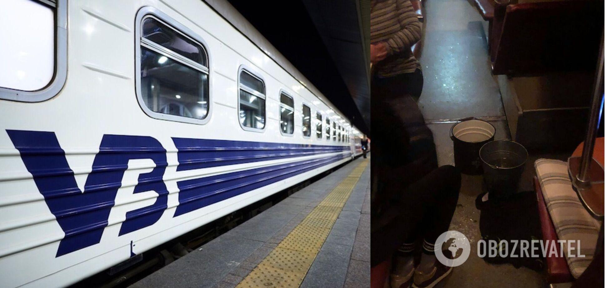 'Укрзалізниця' відреагувала на скандал в мережі через потоп у потязі