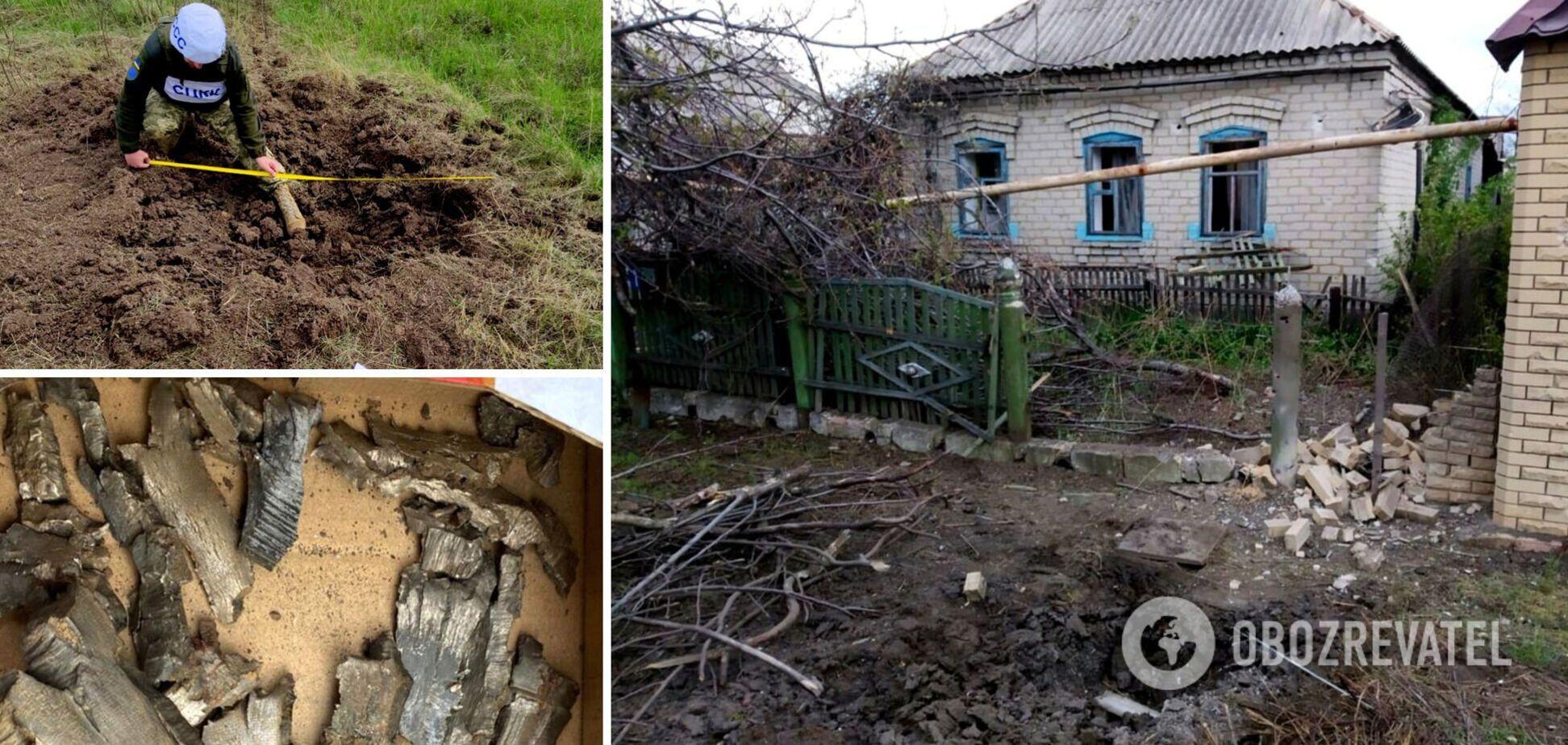 Оккупанты обстреляли Марьинку 'Рапирами': в ООС показали фото последствий