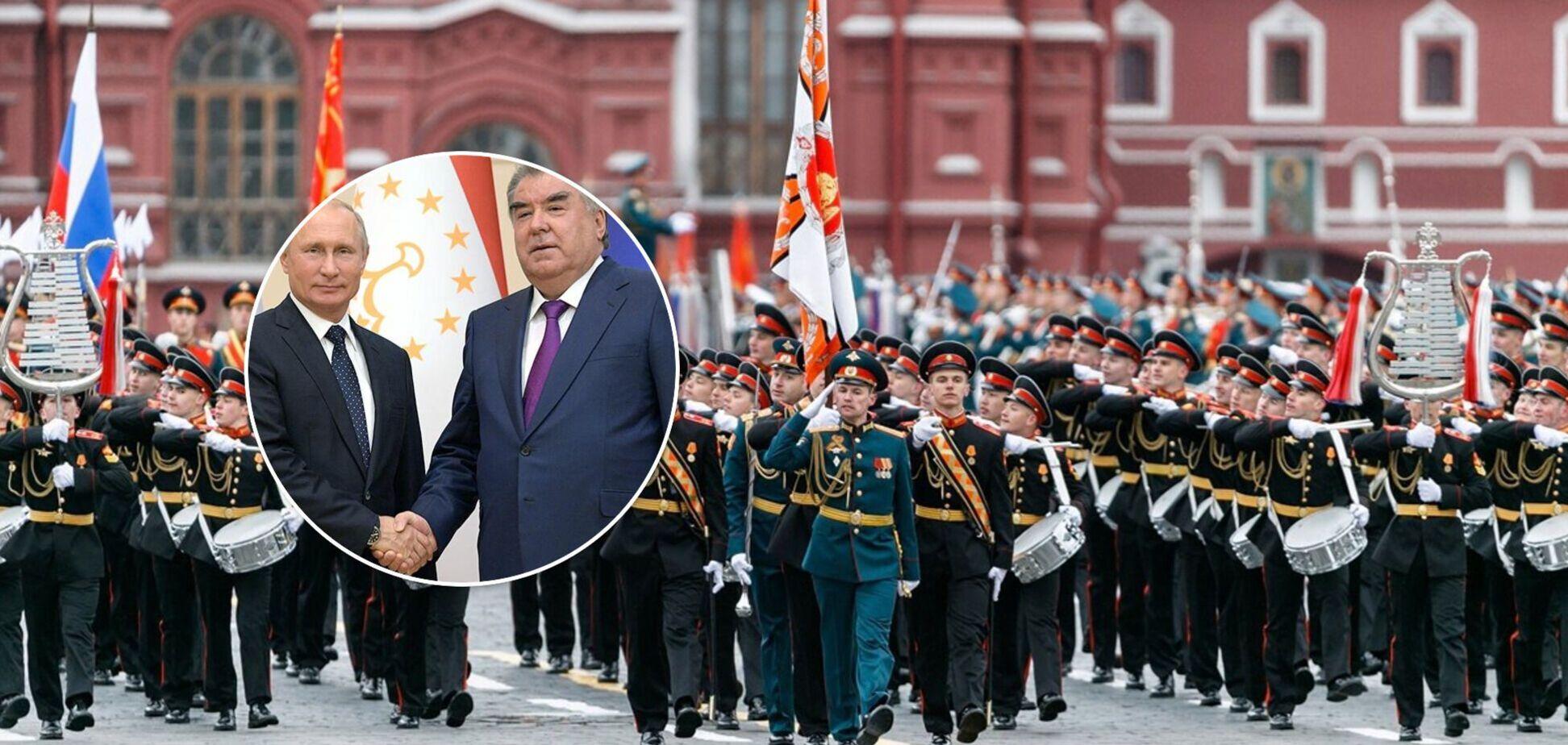 На парад Победы к Путину приехал только президент Таджикистана