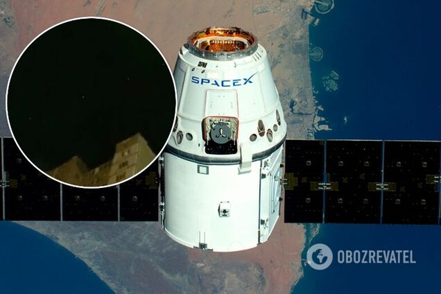 Парад спутников Starlink Маска сняли на видео над Киевом
