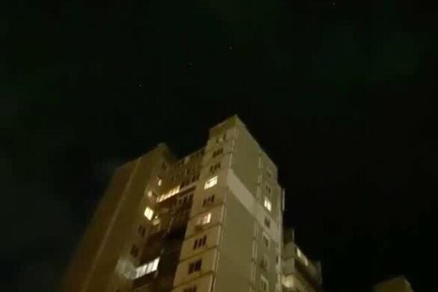 В Киеве сняли на видео парад спутников Маска