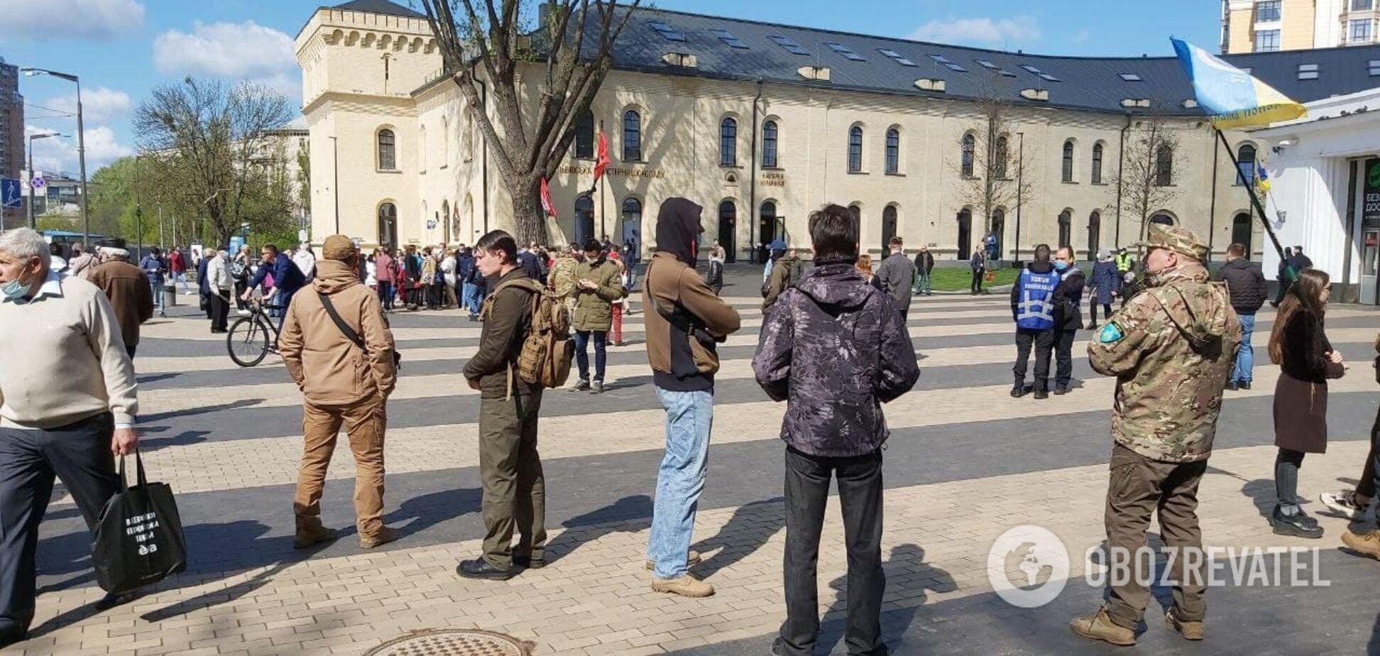 У Києві націоналісти зібралися на ходу до Вічного вогню