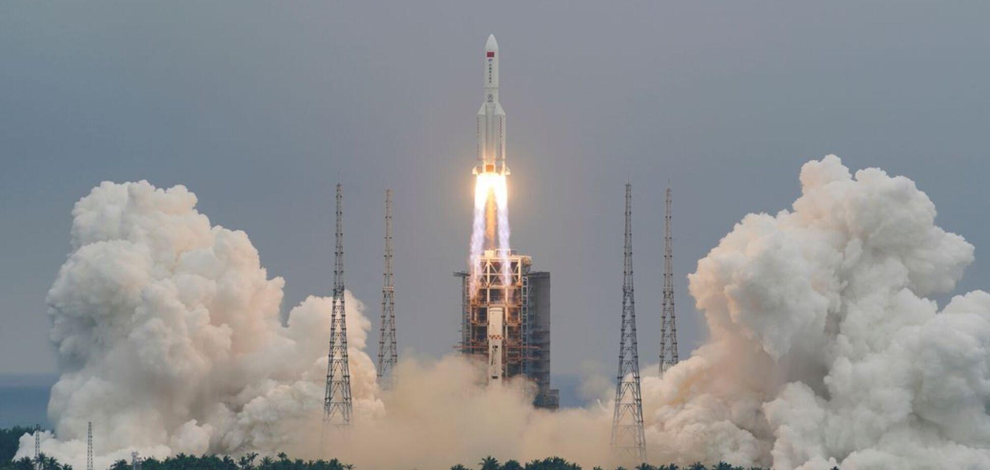 Залишки китайської ракети впали в Індійський океан