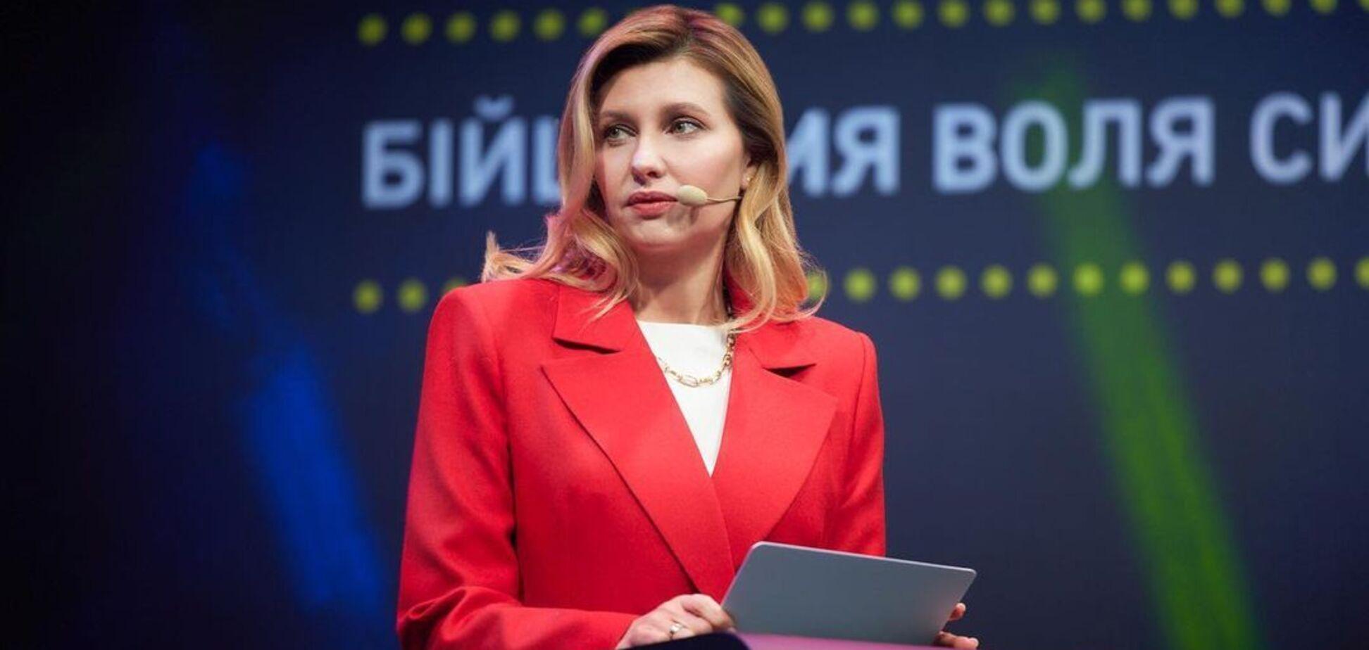 Зеленська прийшла на зустріч у найстильнішому піджаку сезону. Фото
