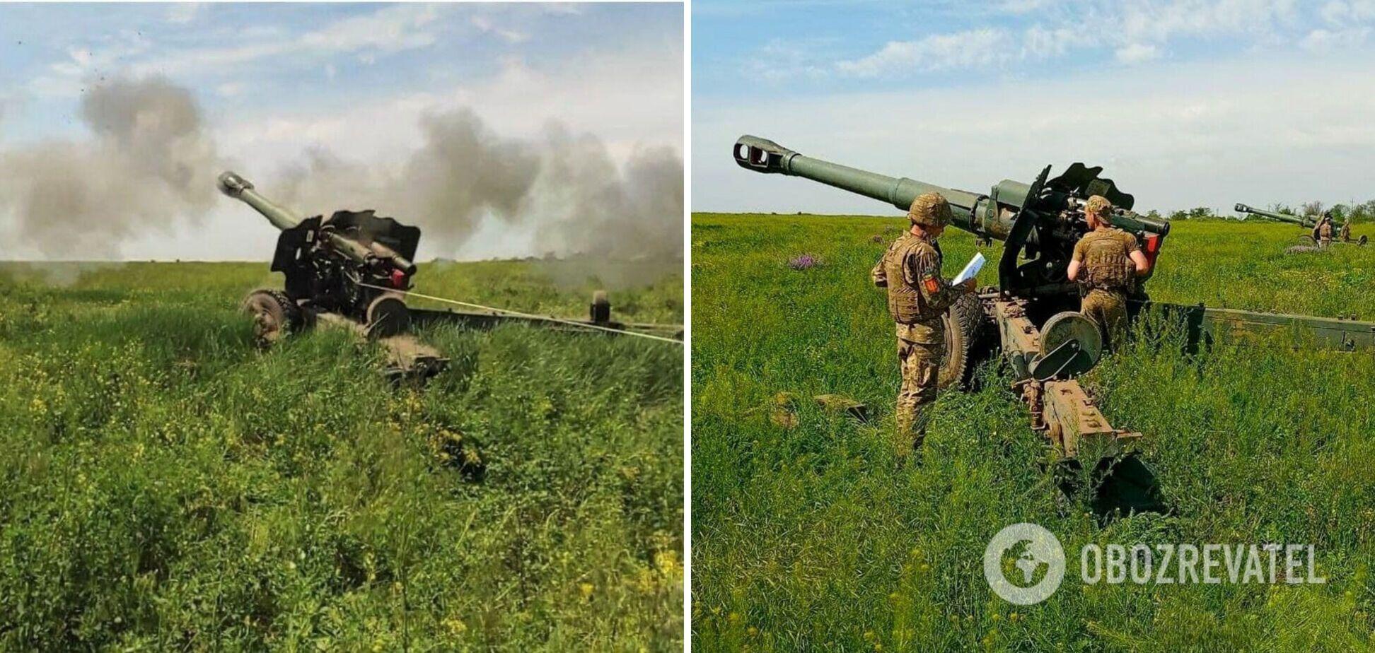 Артиллерийские учения на Донбассе