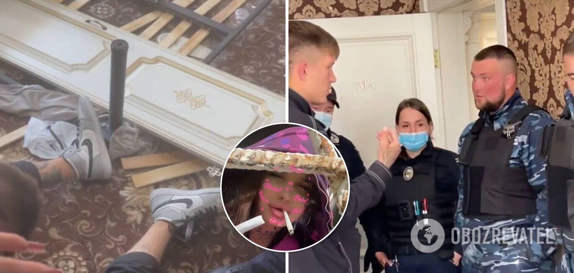 У Києві блогерка разом із друзями розгромила номер у готелі: що відомо про скандал