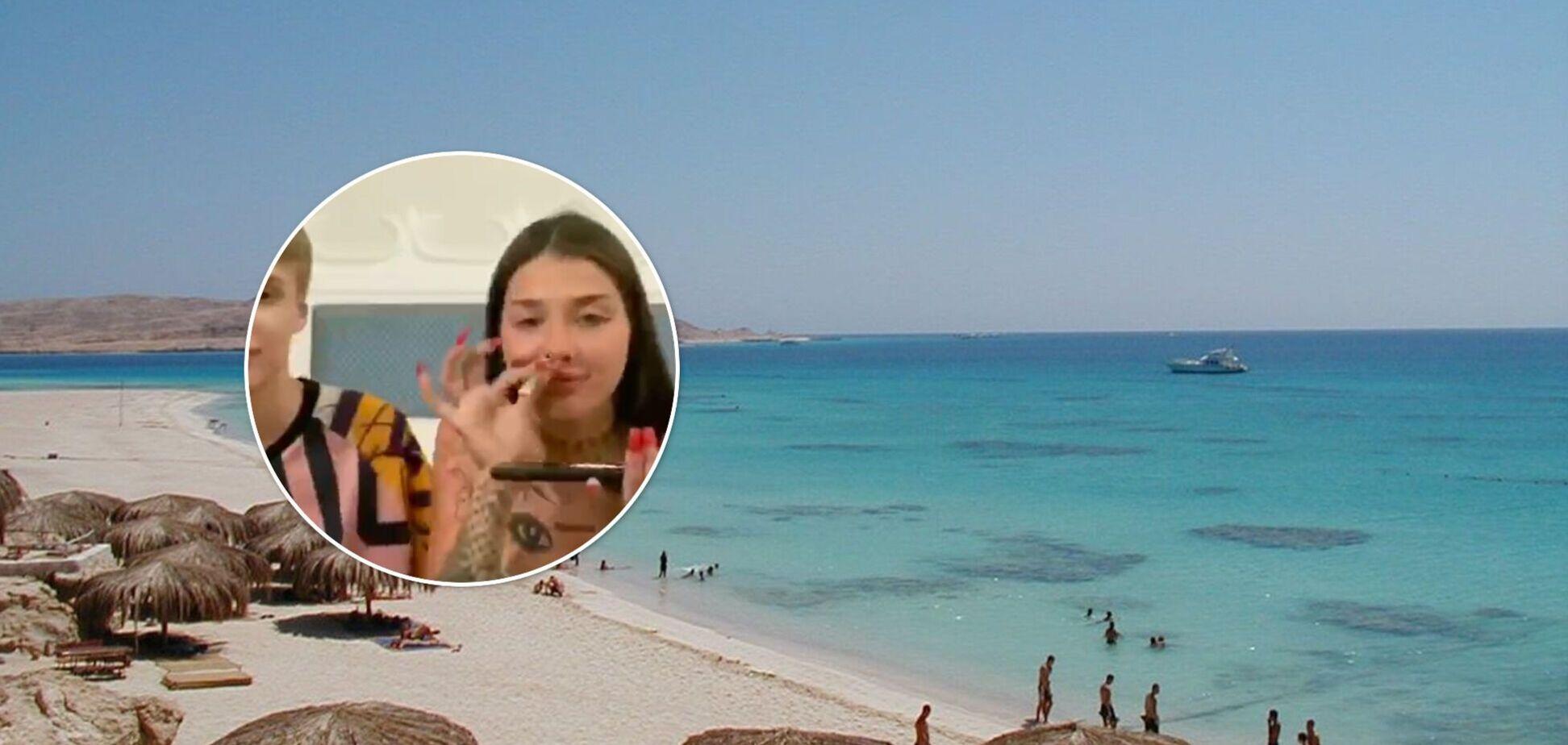 18-річна блогерка, яка розгромила готельний номер у Києві, нібито вживала наркотики в Єгипті. Відео