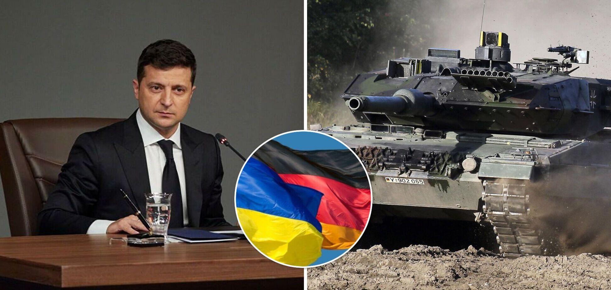 Зеленський закликав Німеччину допомогти Україні зброєю