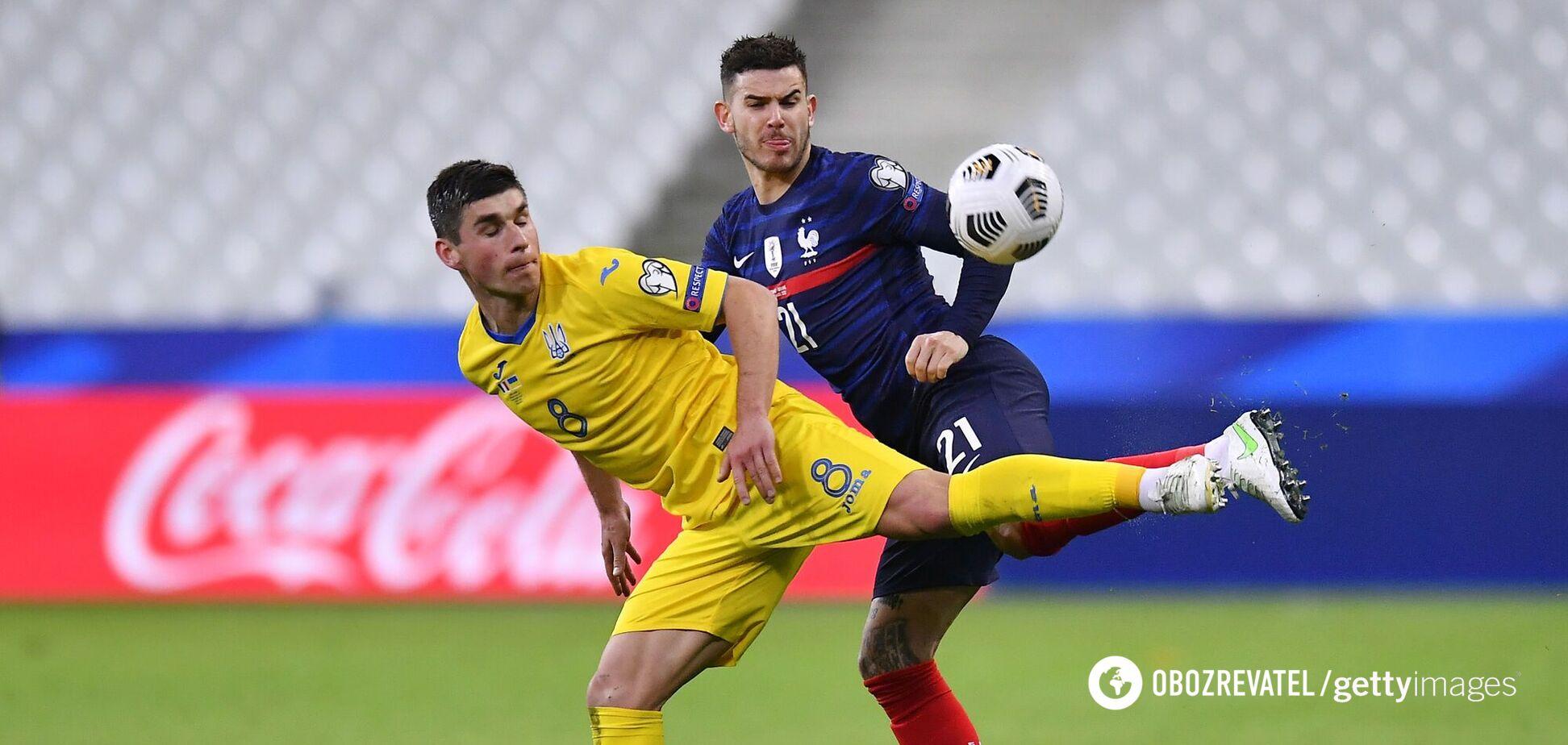 Малиновський в матчі проти збірної Франції