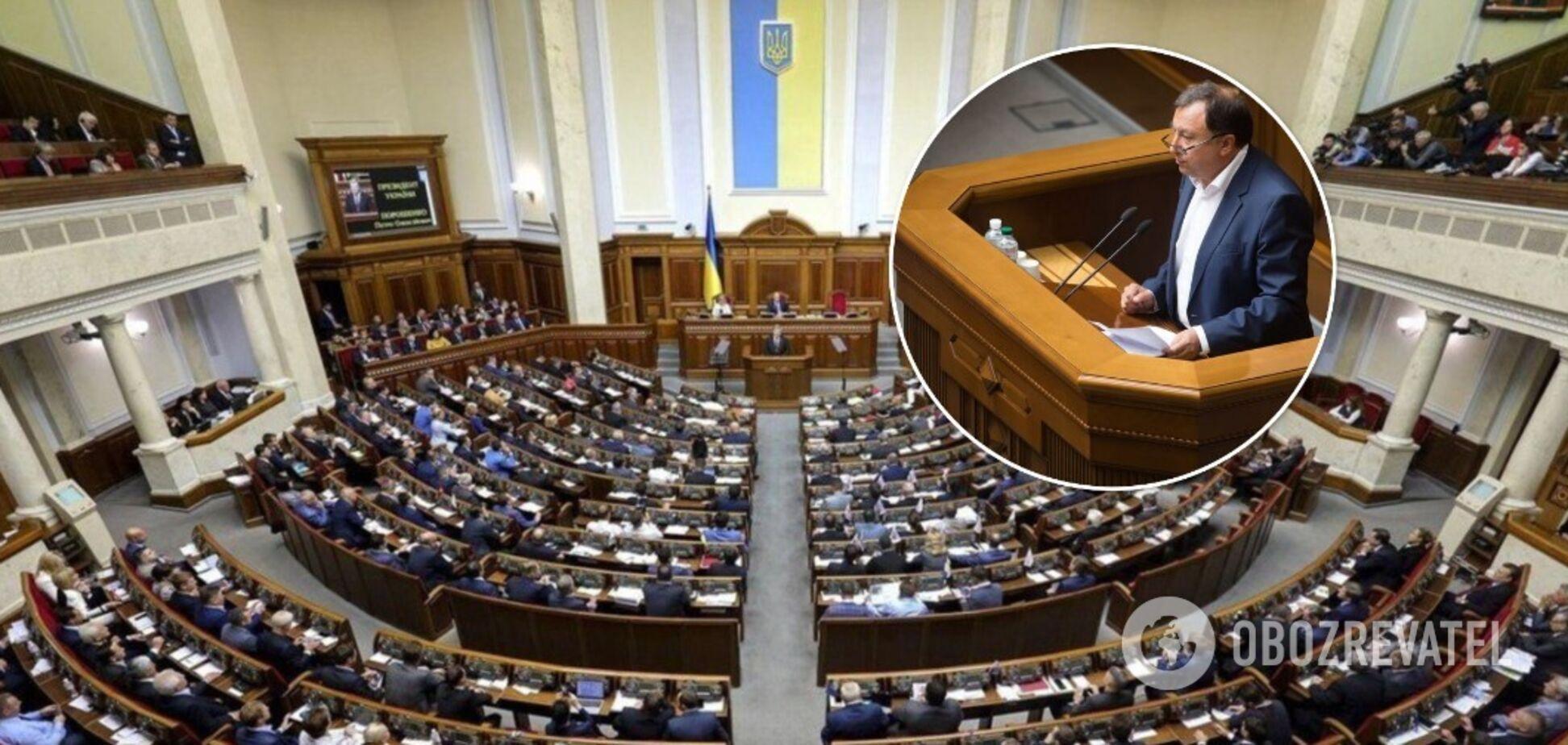 Депутаты Верховной Рады провалили голосование за внесение в повестку дня законопроекта 5554