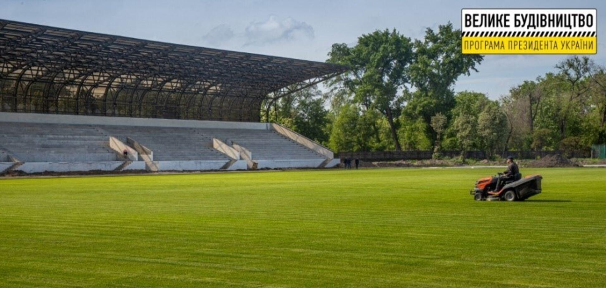 В Кривом Роге реконструируют стадион 'Спартак'