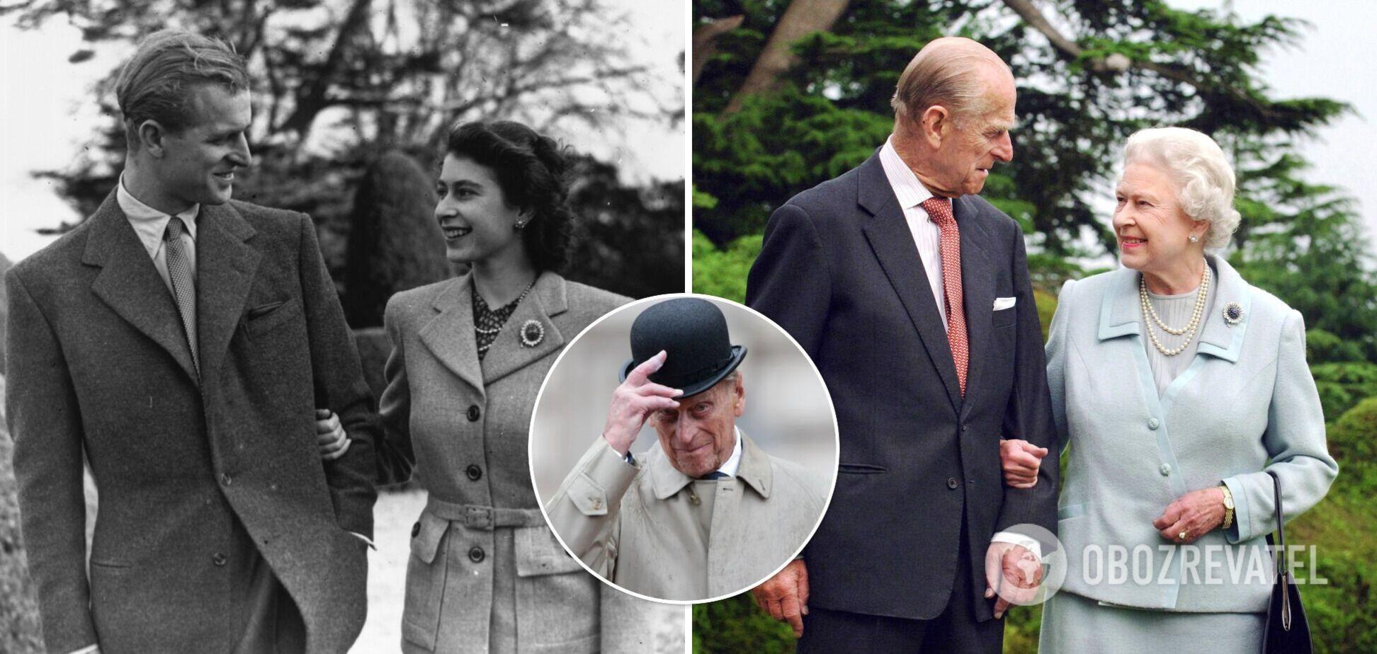 100 лет со дня рождения принца Филиппа: редкие архивные фото с королевой Елизаветой II