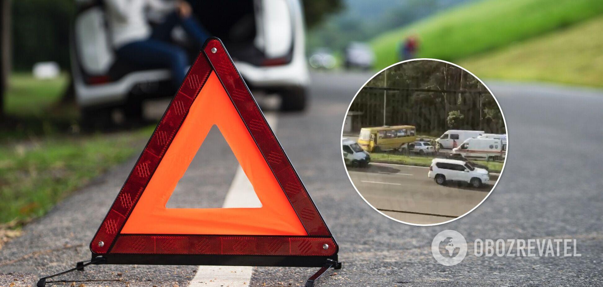 Авария произошла на Броварском проспекте