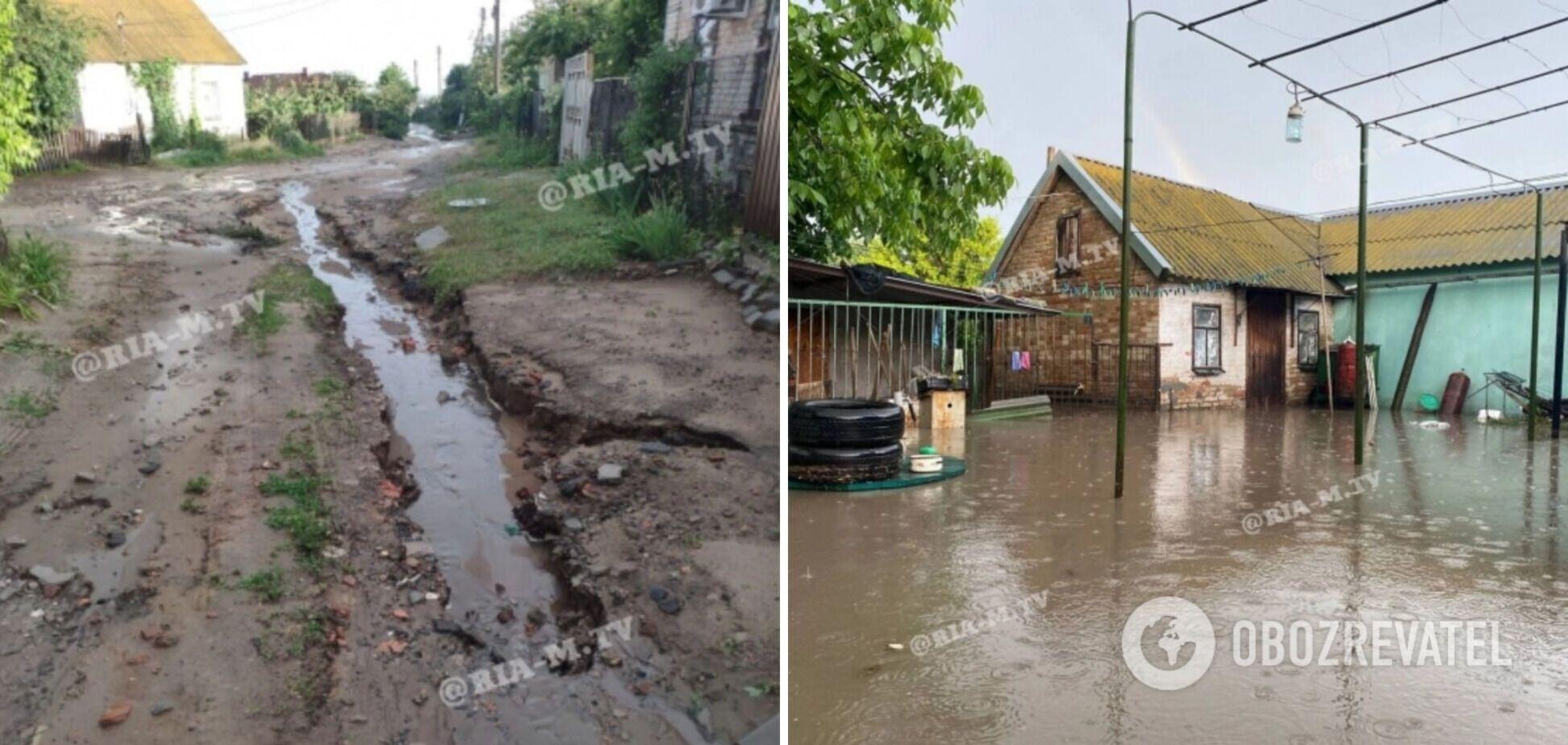 Мелитополь затопило после дождя