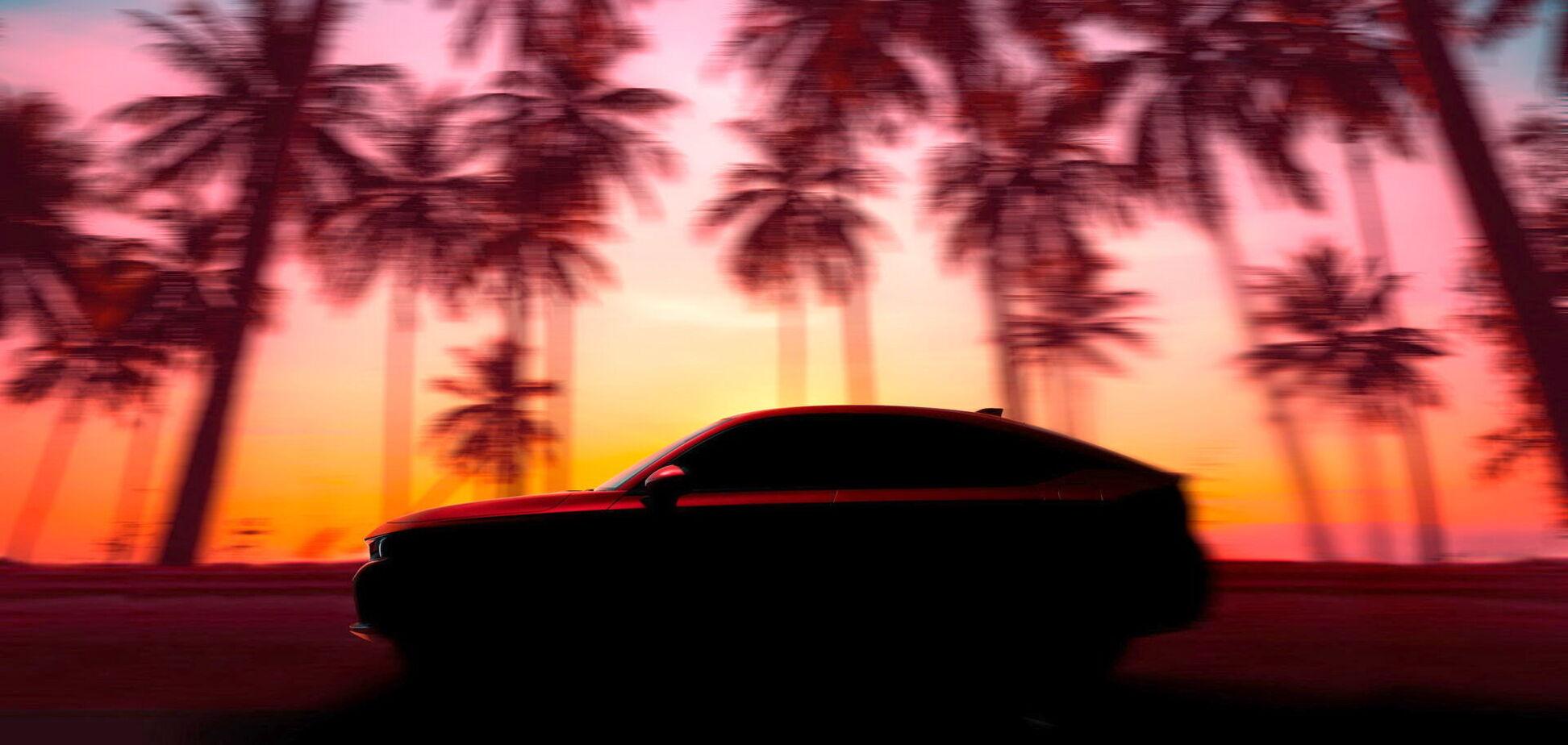 Honda показала тизер Civic Hatchback перед дебютом