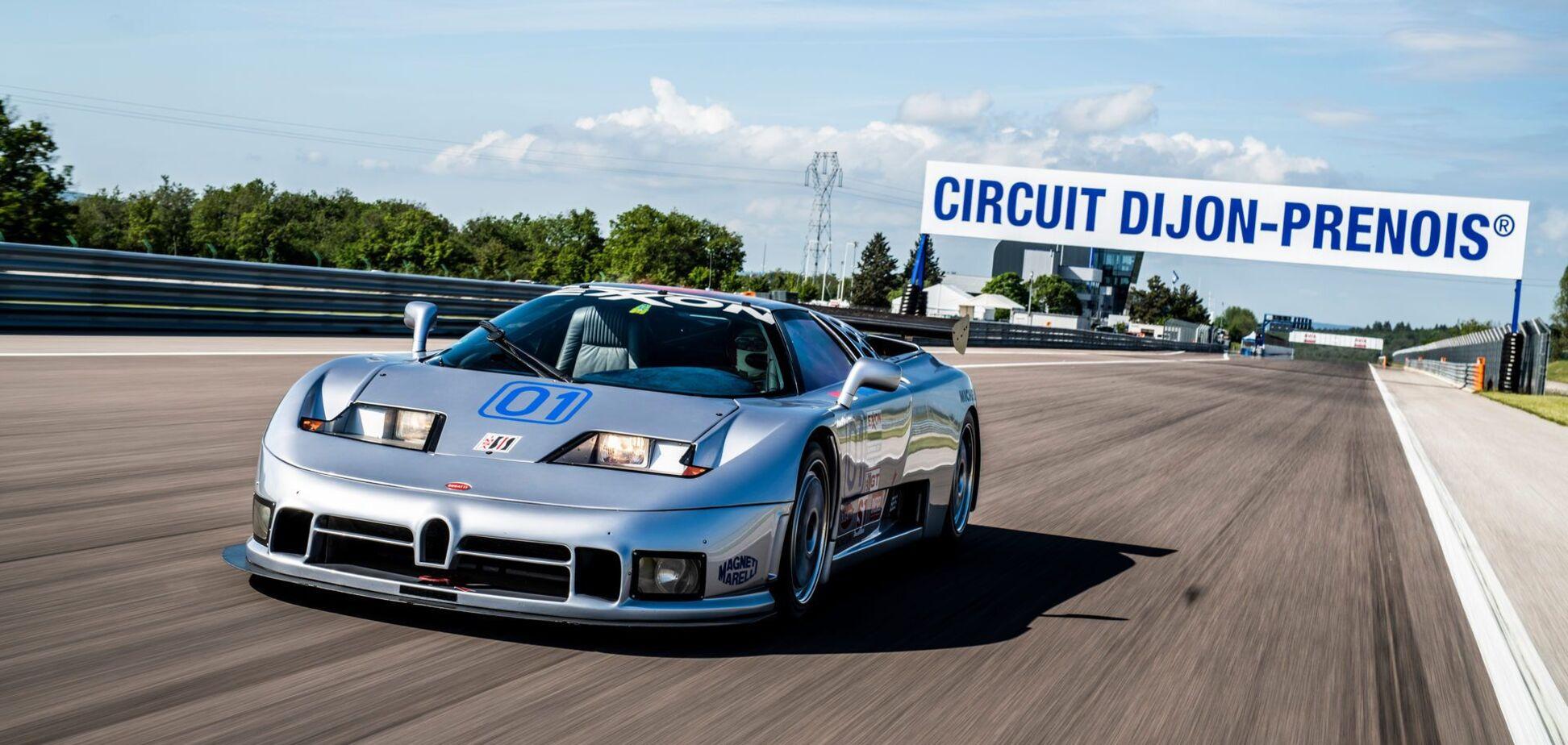 Унікальний Bugatti EB 110 Sport Competizione повернувся на трек