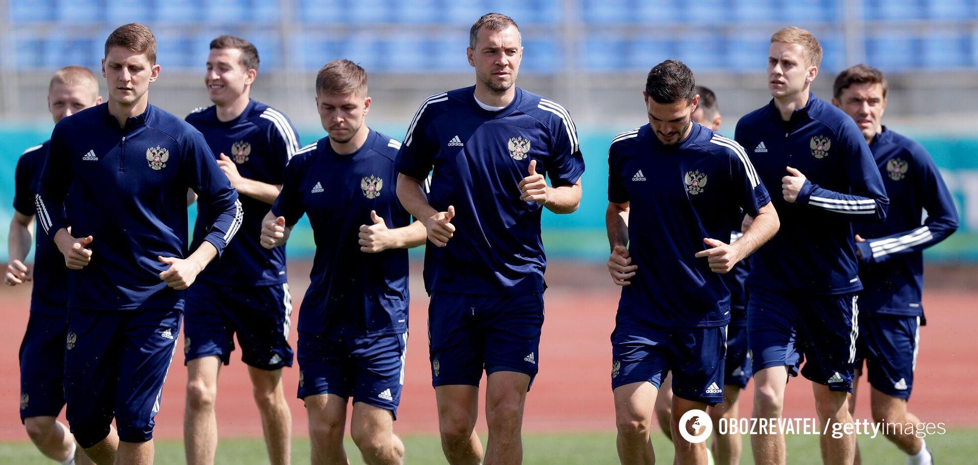 Тренировка сборной России перед Евро-2020