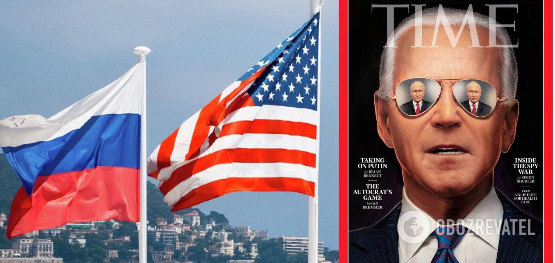 Time выпустил символическую обложку с Байденом и Путиным перед их саммитом
