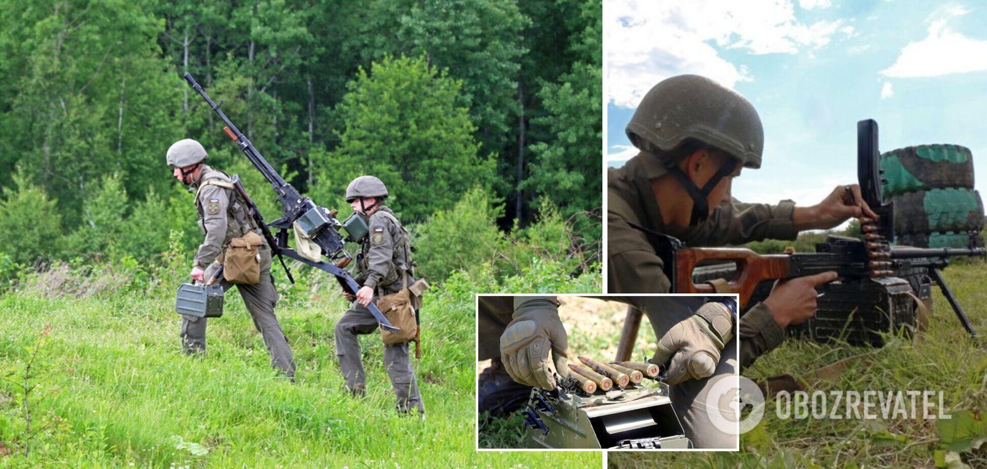 Пулеметчики Нацгвардии провели учения на Прикарпатье: расстреляли 'пехоту противника'. Фото