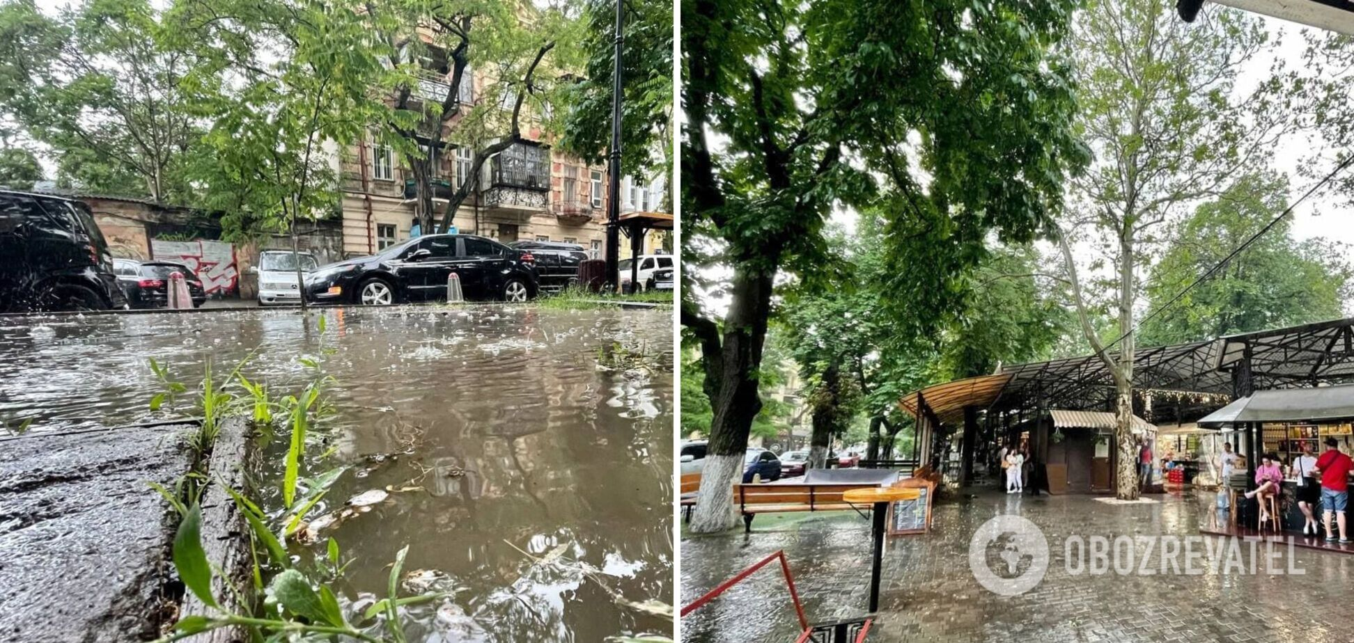 Одессу затопило после сильного ливня