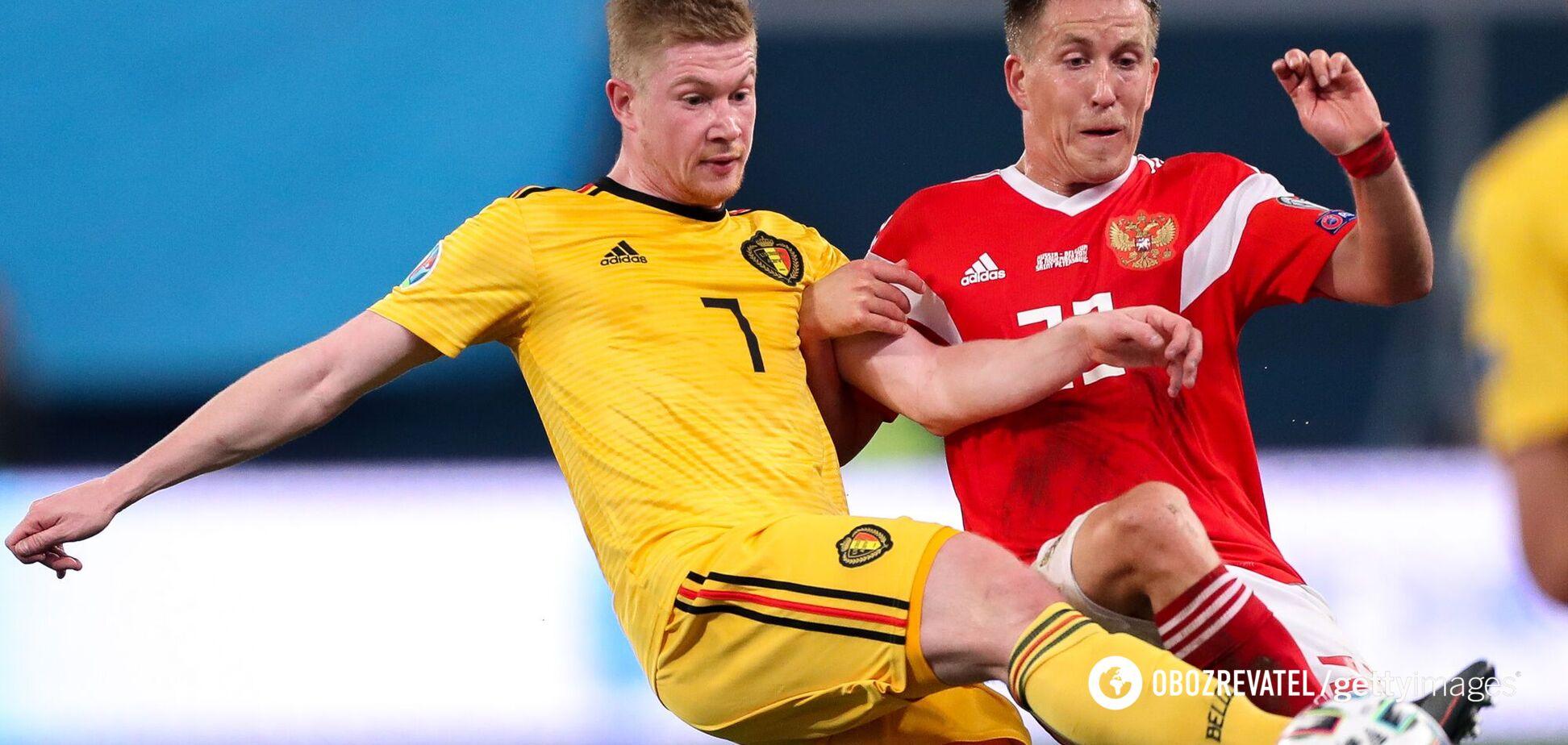 Бельгия – Россия: букмекеры назвали результат матча Евро-2020