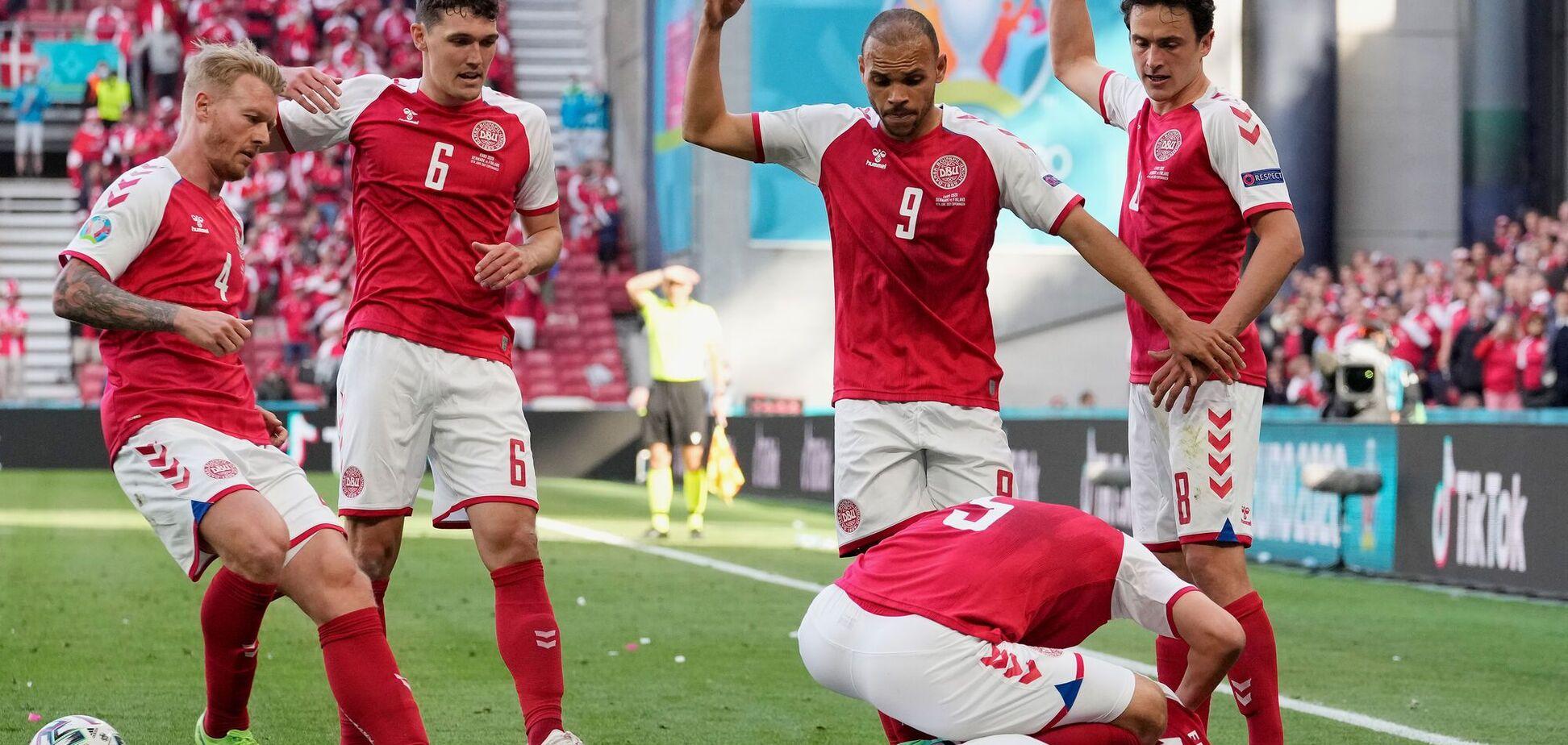 Матч Евро-2020 остановлен из-за реанимации лидера сборной Дании