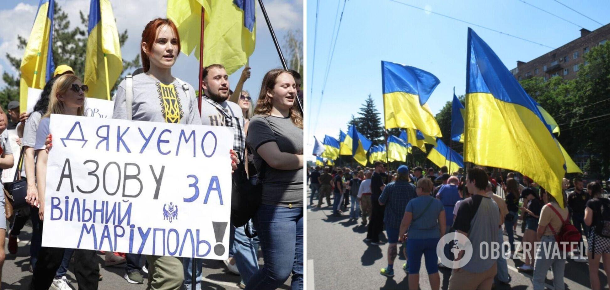 У Маріуполі яскраво відзначили річницю визволення міста від 'ДНР'. Фото