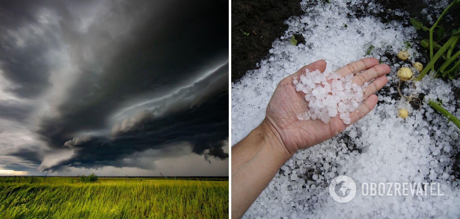 В Україні оголосили штормове попередження: очікуються грози та град