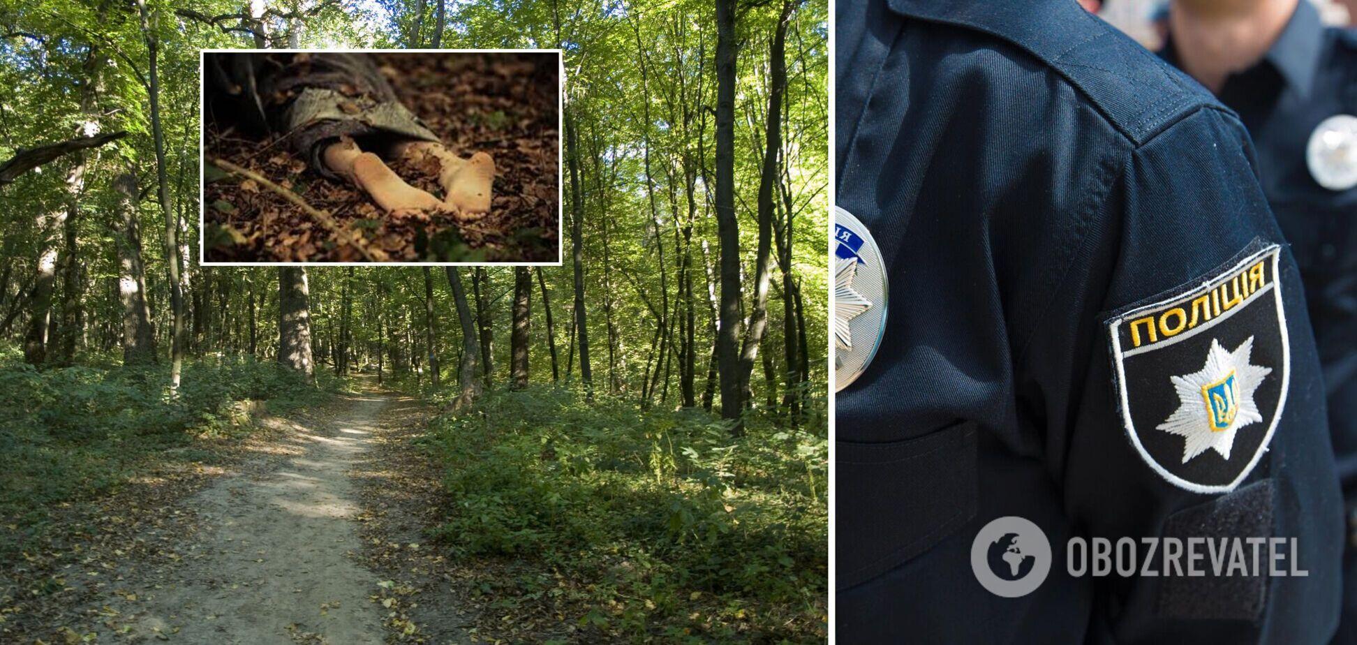 В Киеве возле заправки нашли обнаженное тело женщины. Видео