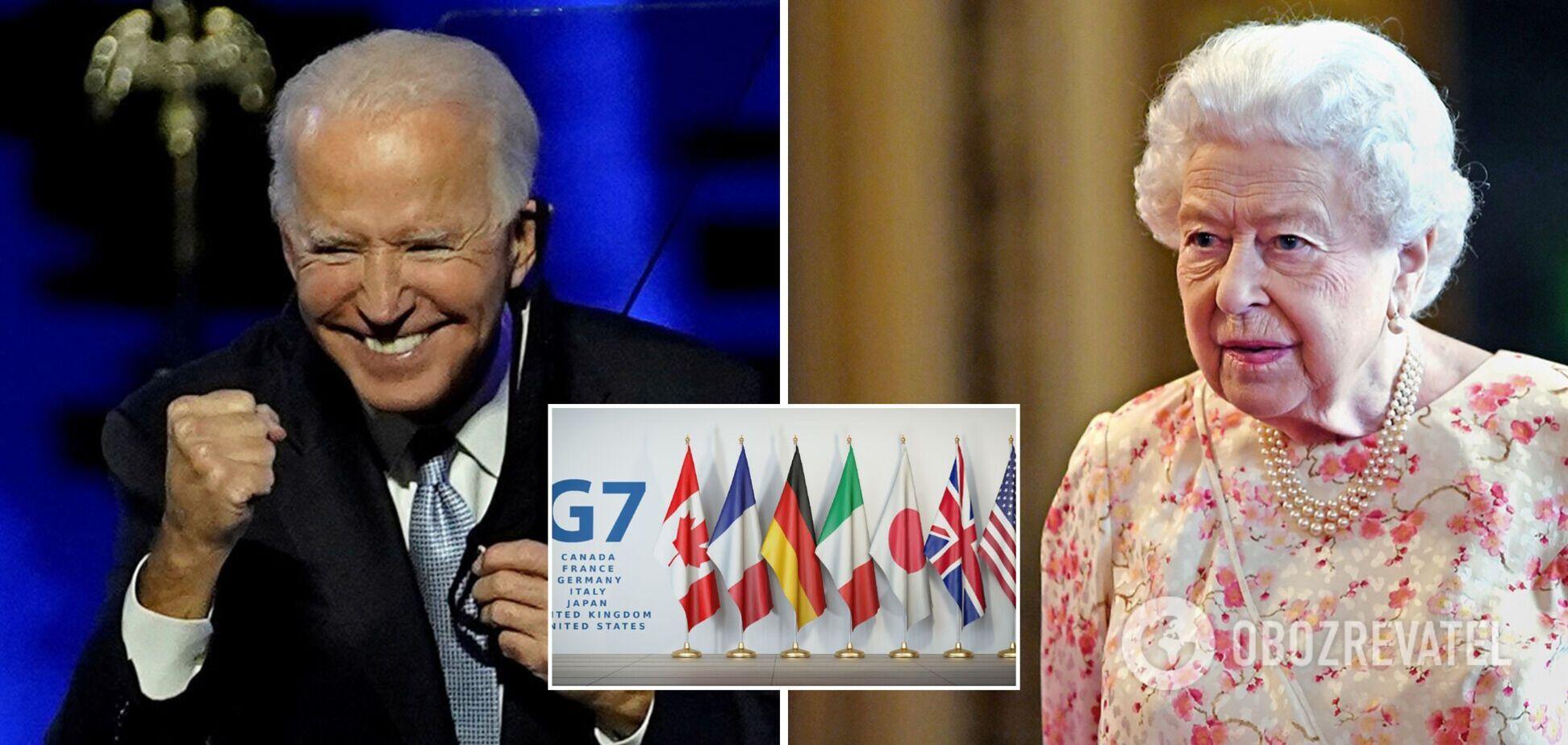 Байден порушив королівський протокол, приїхавши на саміт G7 пізніше за Єлизавету II