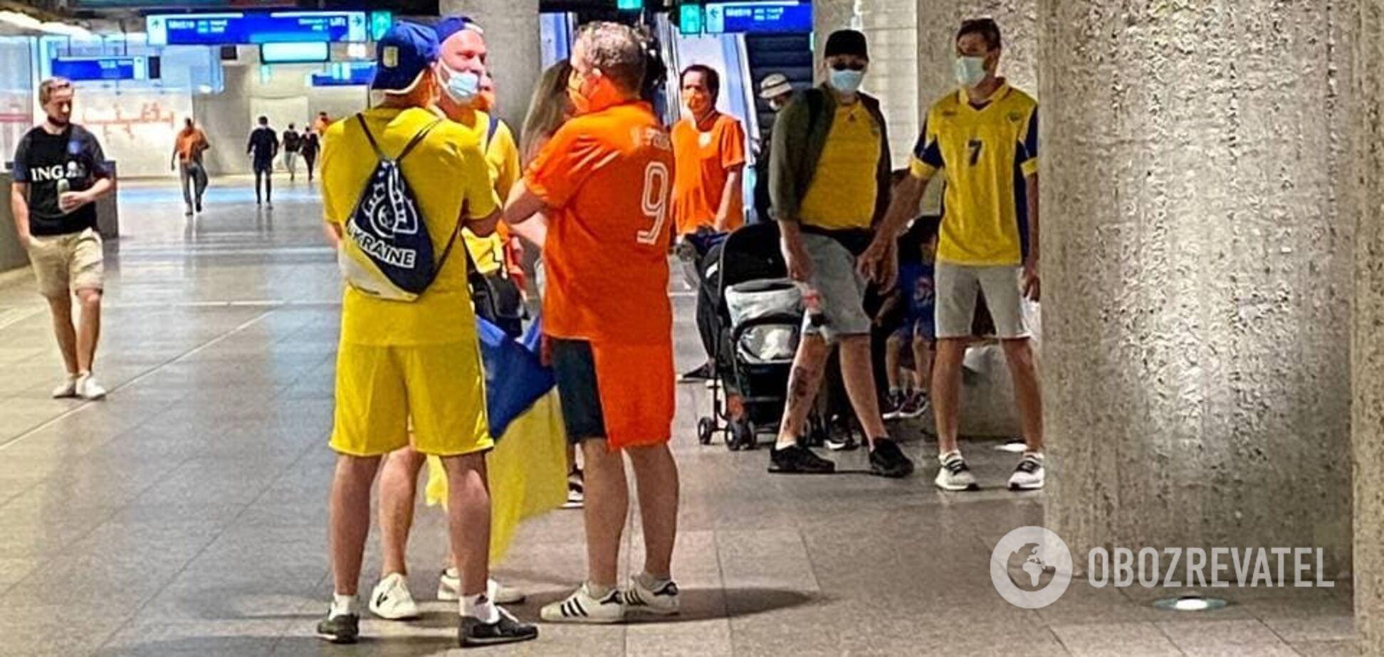 Украинцы на Евро-2020 передали привет Путину