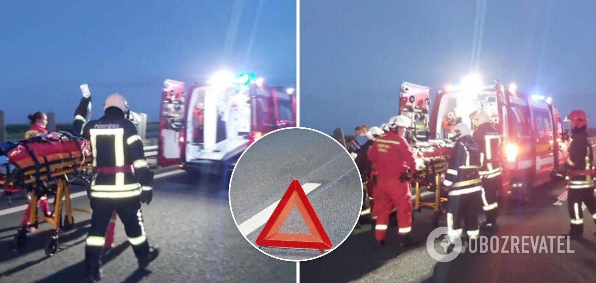 В Румынии автобус с украинцами попал в ДТП: 2 человека погибли, 16 – пострадали. Фото