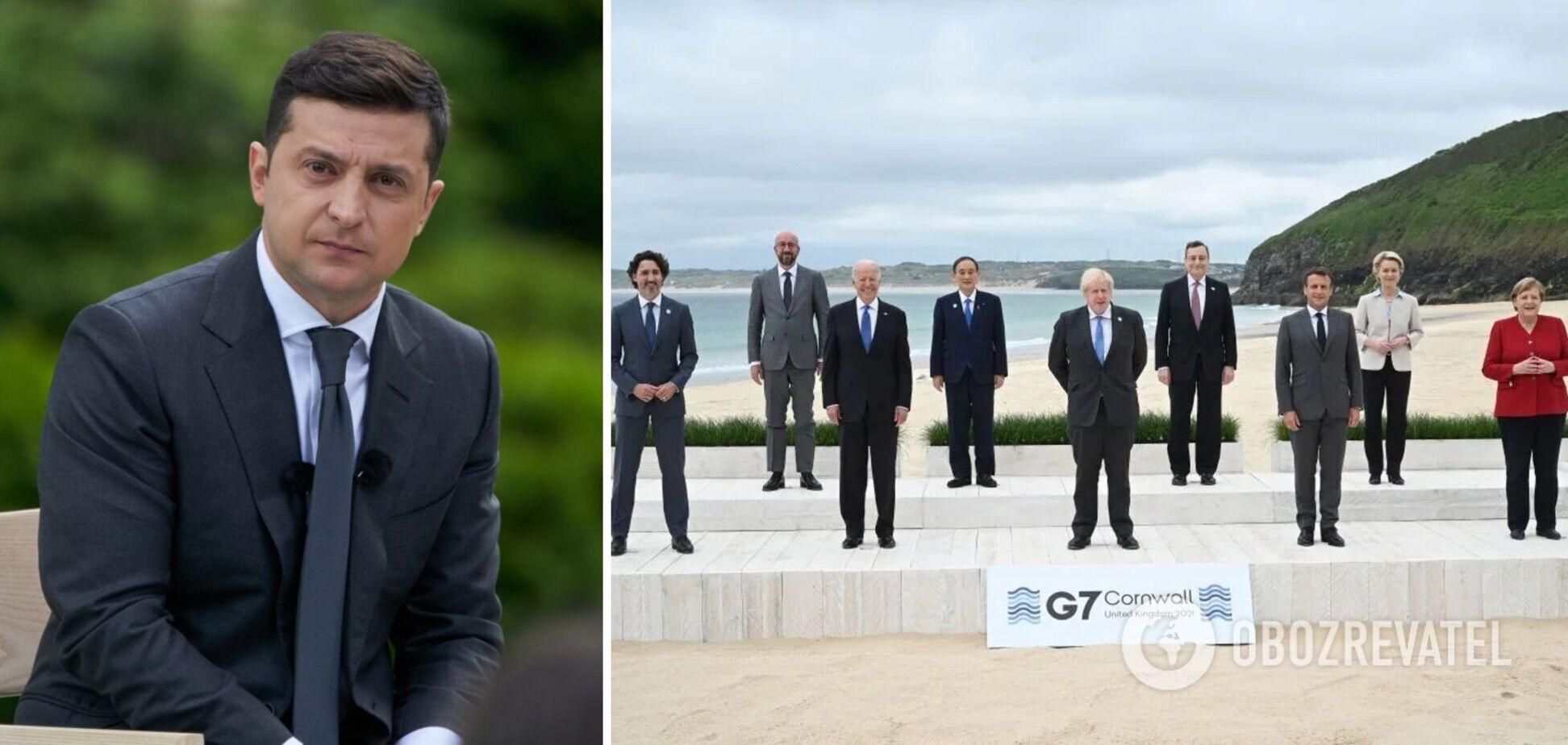 Зеленский ответил лидерам G7 на решение по агрессии России на Донбассе и в Крыму