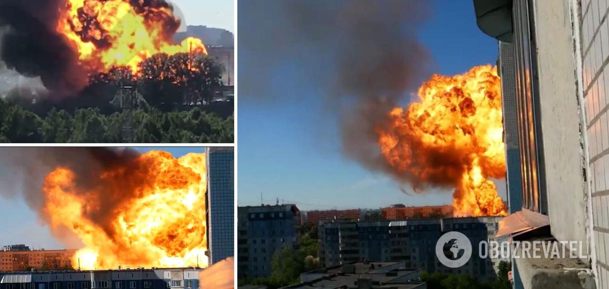Пожар и взрыв на АЗС в Новосибирске