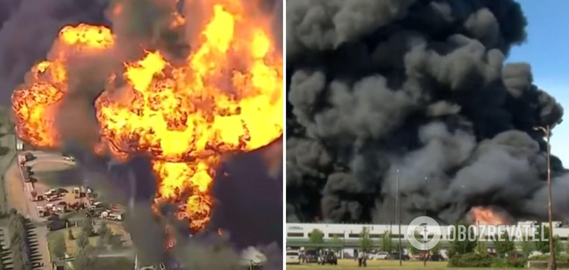 У США на хімзаводі спалахнула потужна пожежа і почалася масова евакуація. Фото та відео