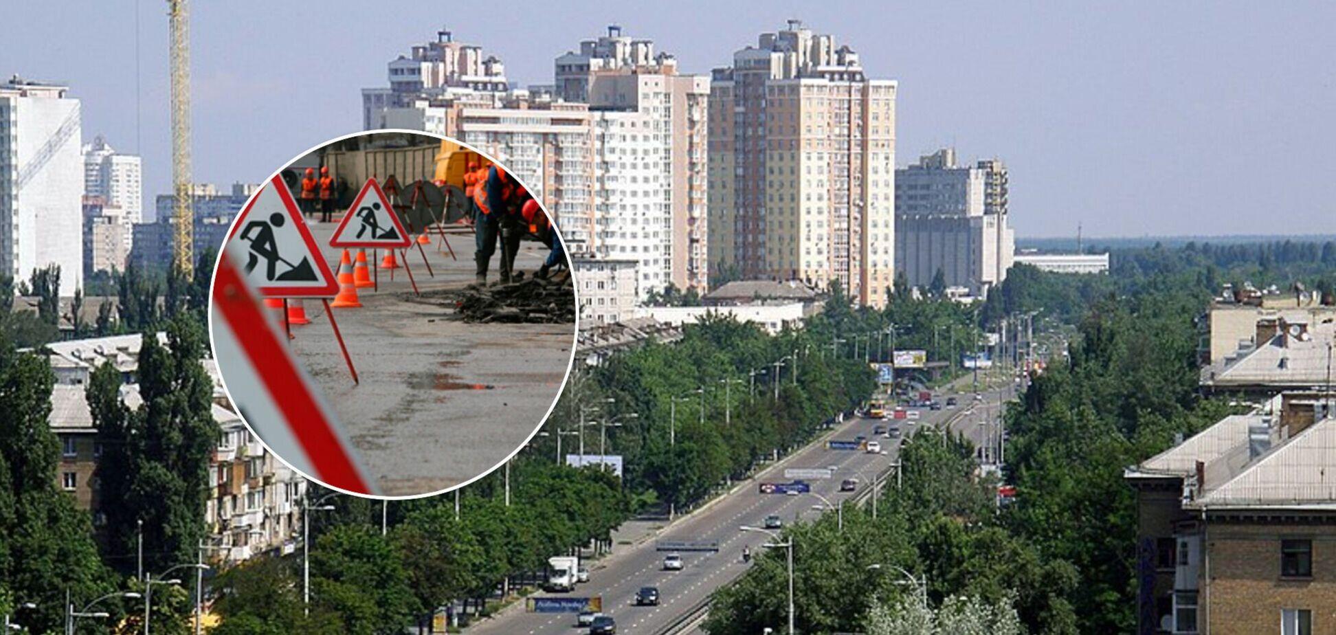 В Киеве реконструируют проспект Гагарина: уберут трамвайные пути и обустроят велодорожки