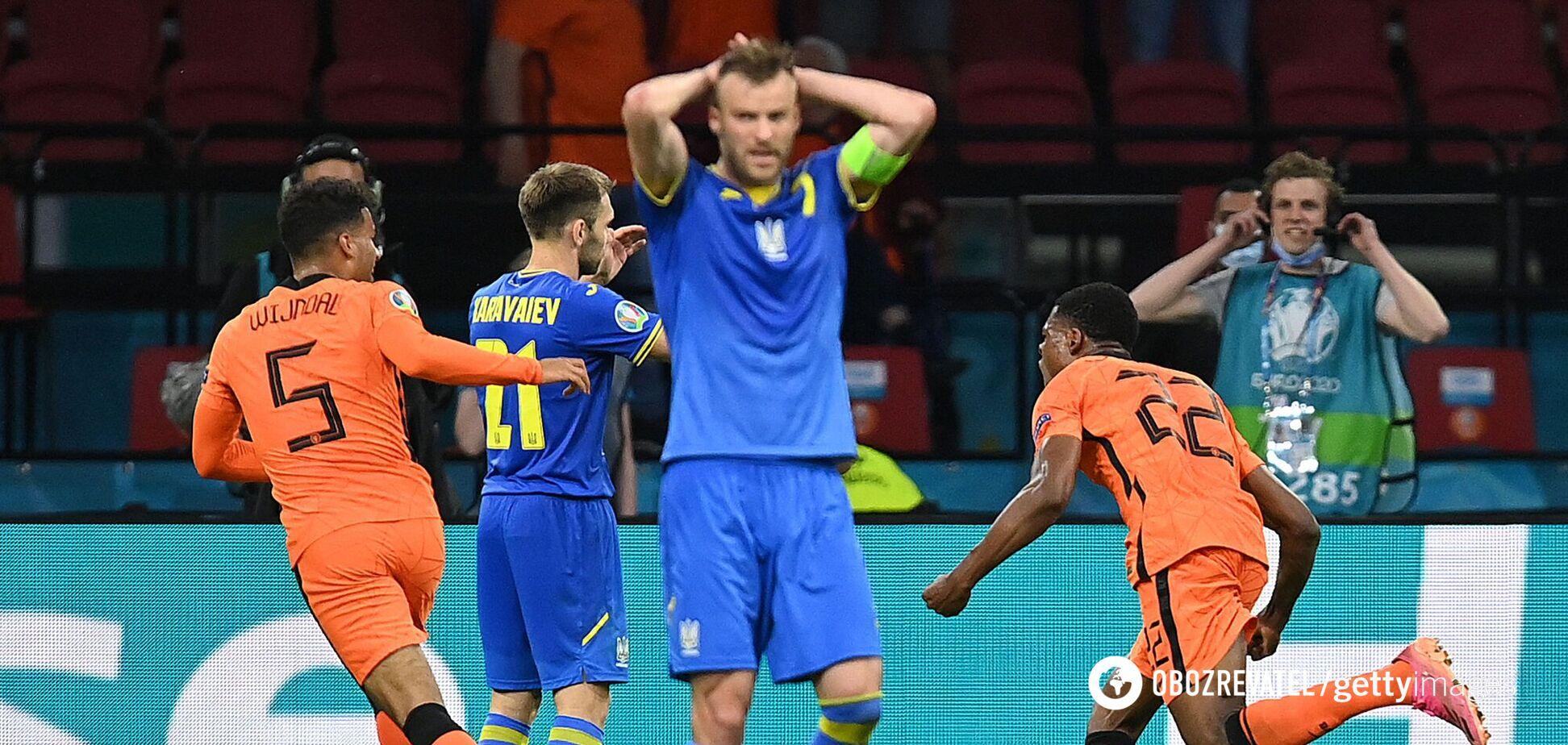 Андрей Ярмоленко (по центру) после решающего гола в матче