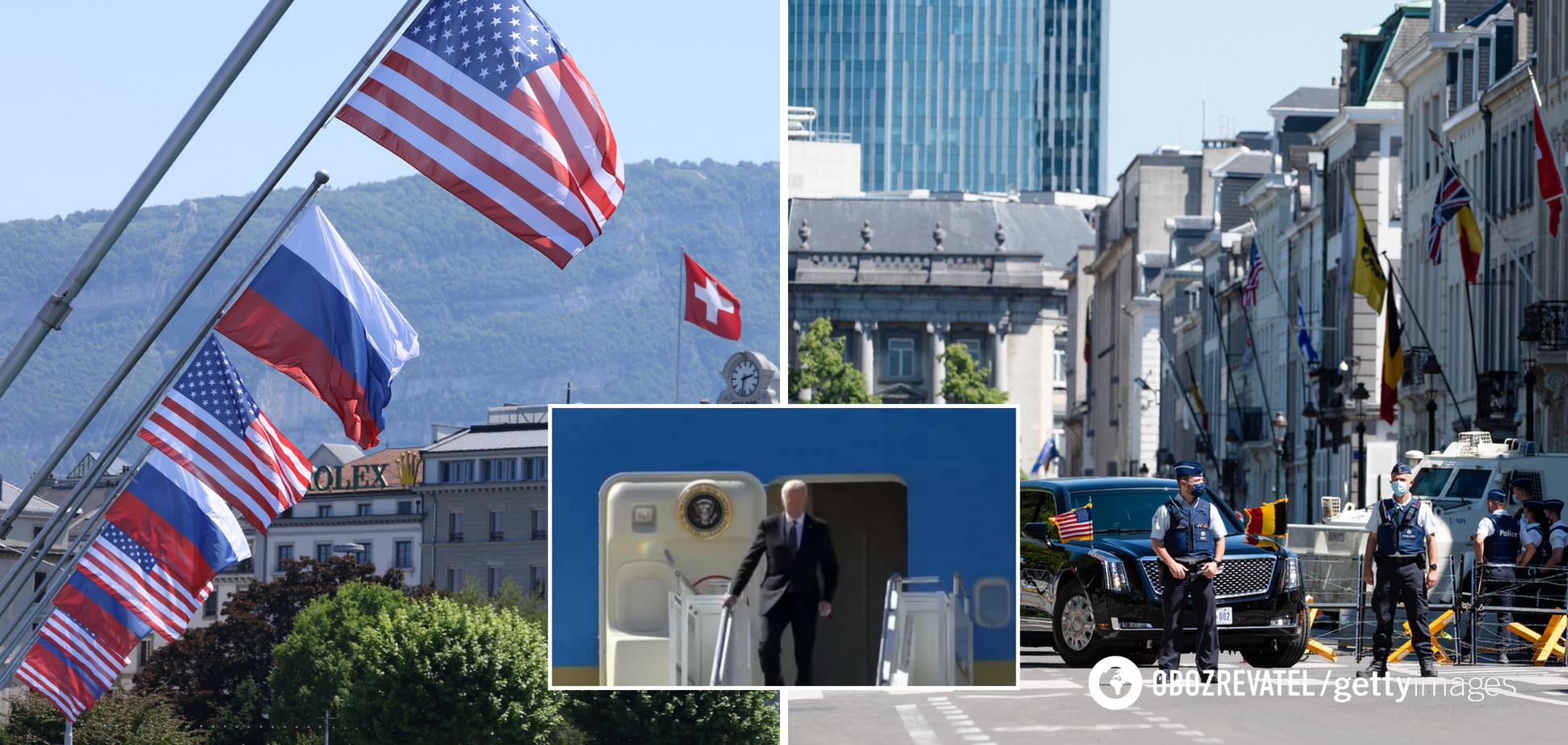 Байден першим прибув до Женеви, пул Путіна змусили годину кружляти над озерами. Всі подробиці