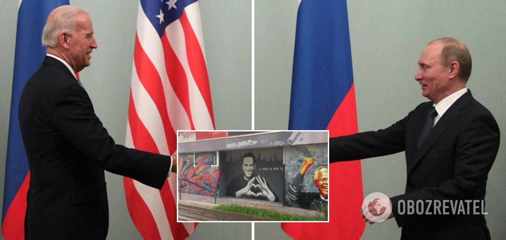 Копия петербургского граффити с Навальным появилась в Женеве