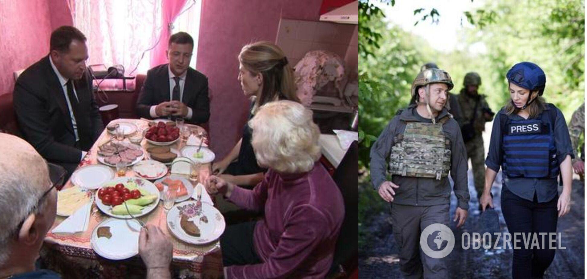 Зеленский позавтракал с представителями СМИ