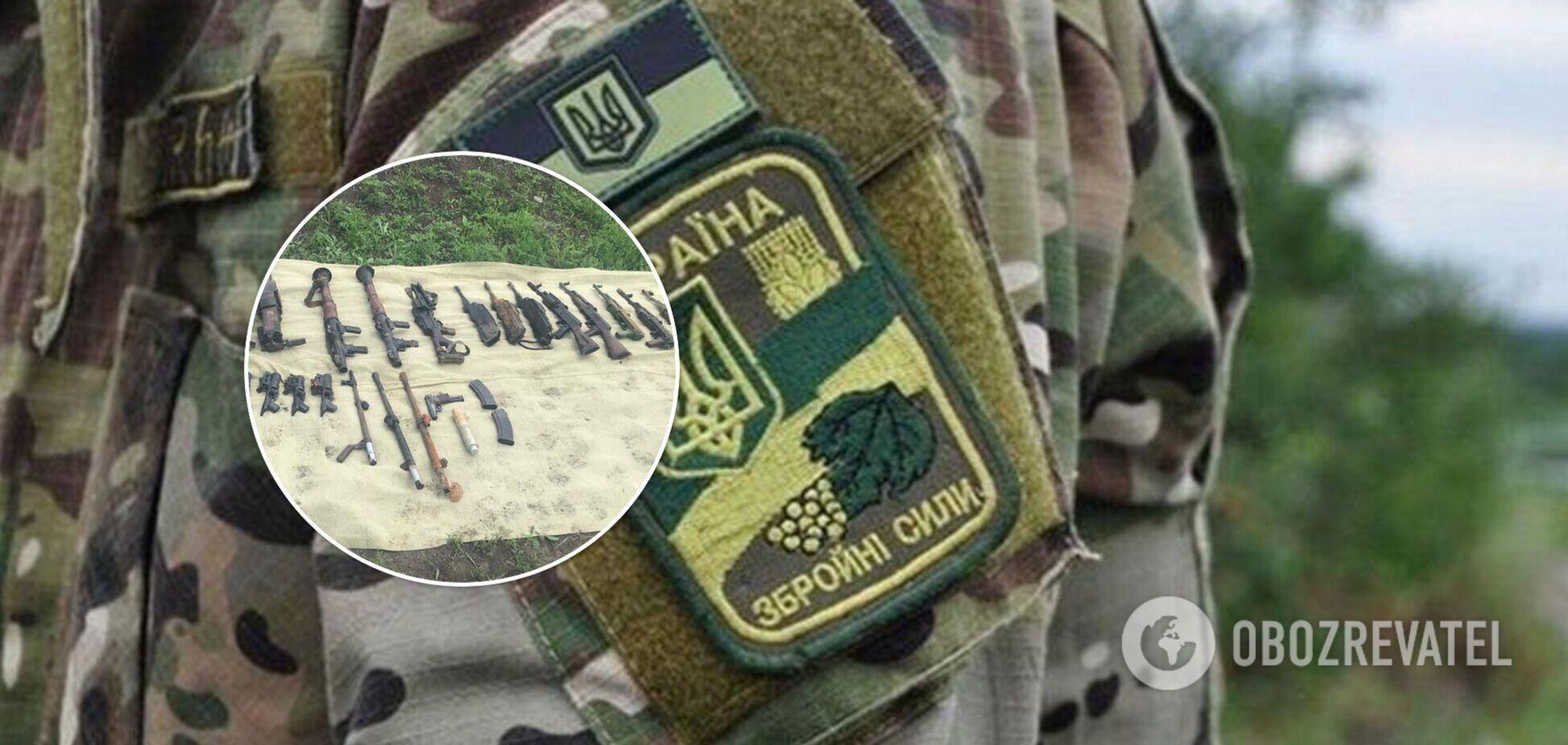 СБУ разоблачила военных, пытавшихся продать оружие из зоны ООС. Фото и видео