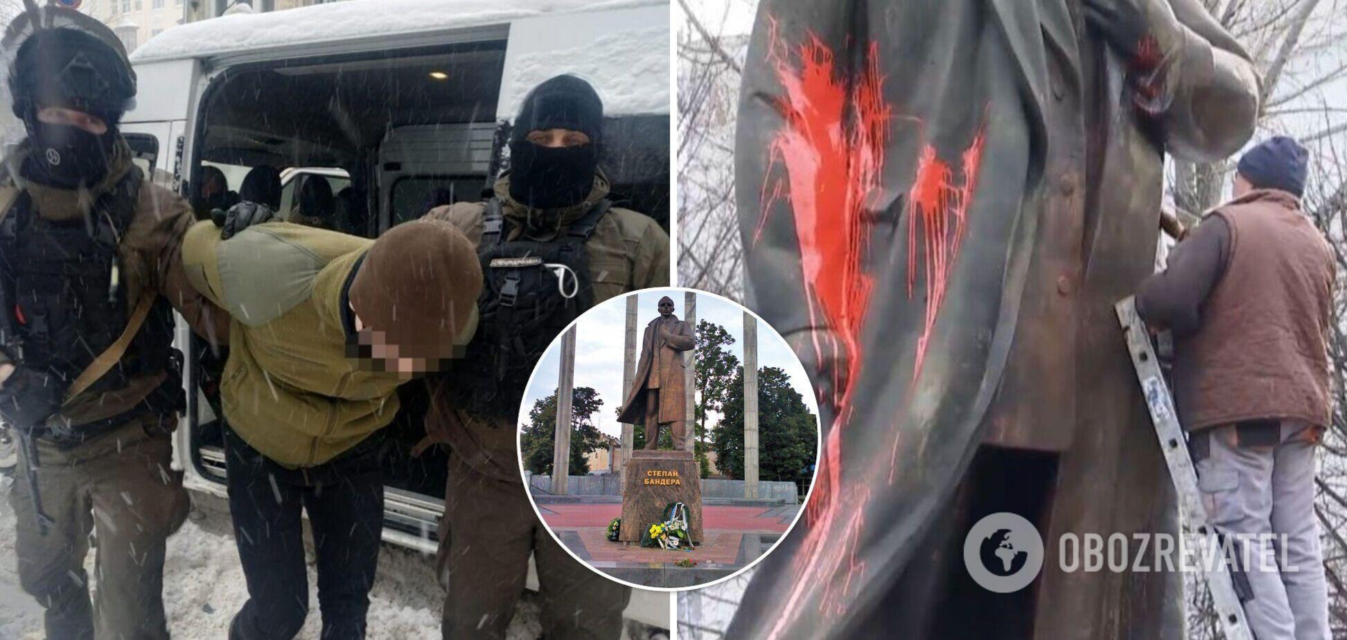 У Львові студент отримав термін за осквернення пам'ятника Бандері