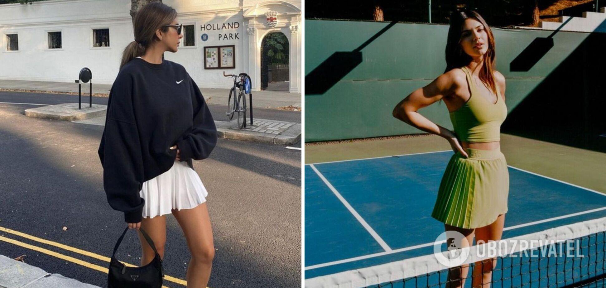 Тенісні спідниці на літо 2021