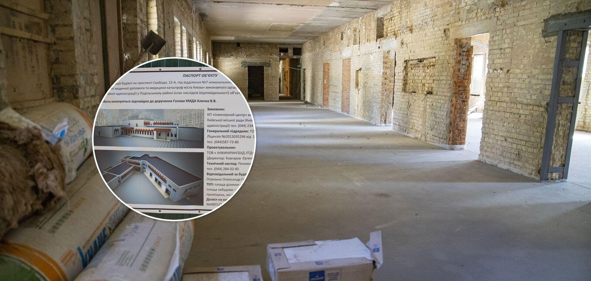 У Києві почали реконструкцію центру екстреної медичної допомоги на Виноградарі