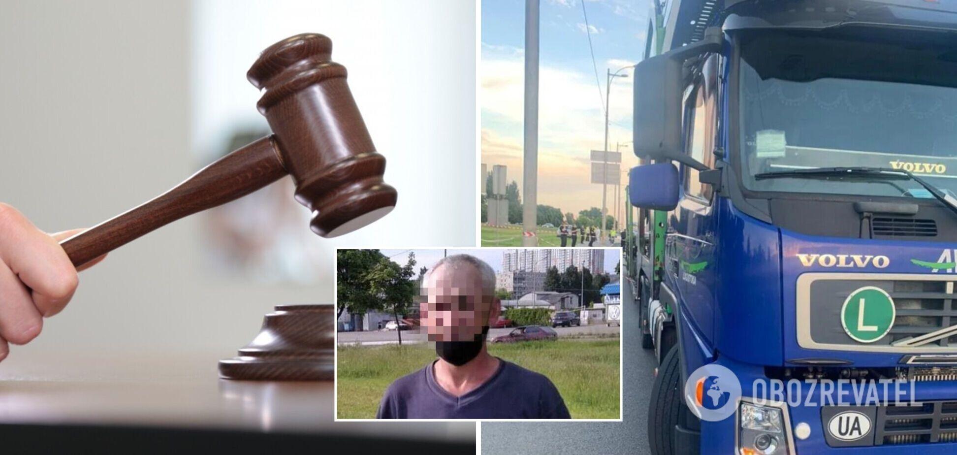Пішохода, який штовхнув чоловіка під вантажівку у Києві, заарештували. Фото