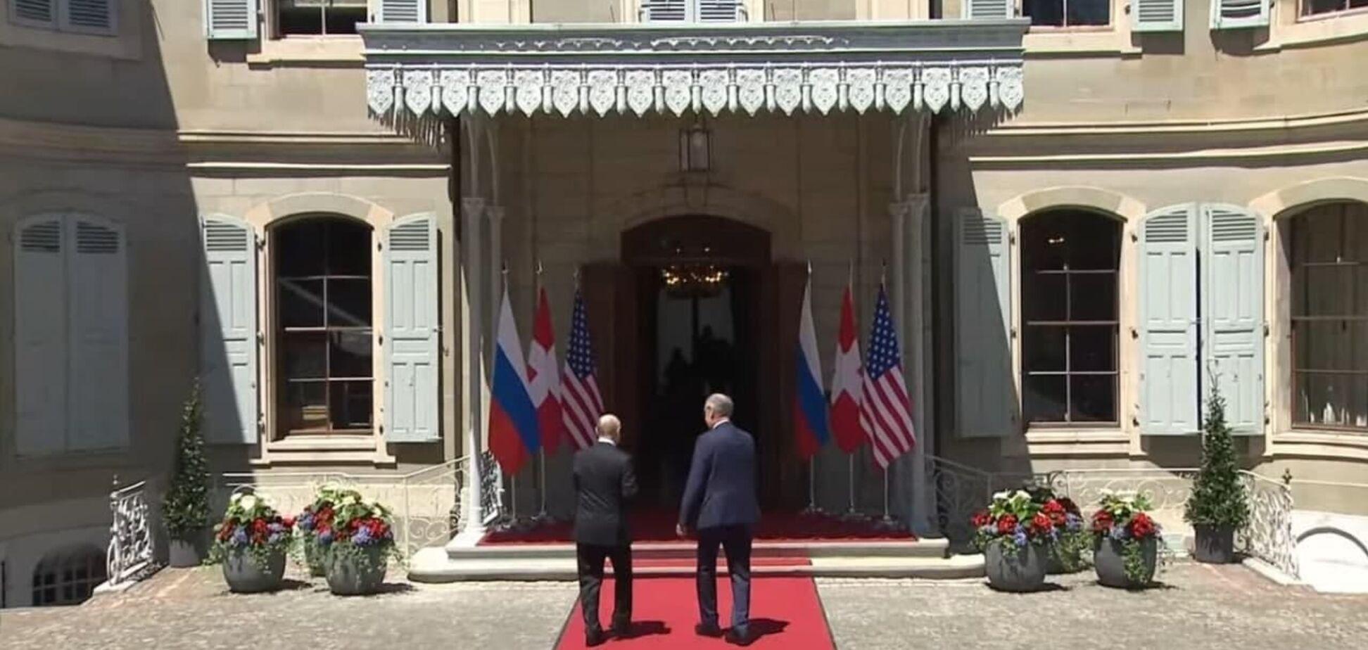 Перше рукостискання Байдена і Путіна в Женеві