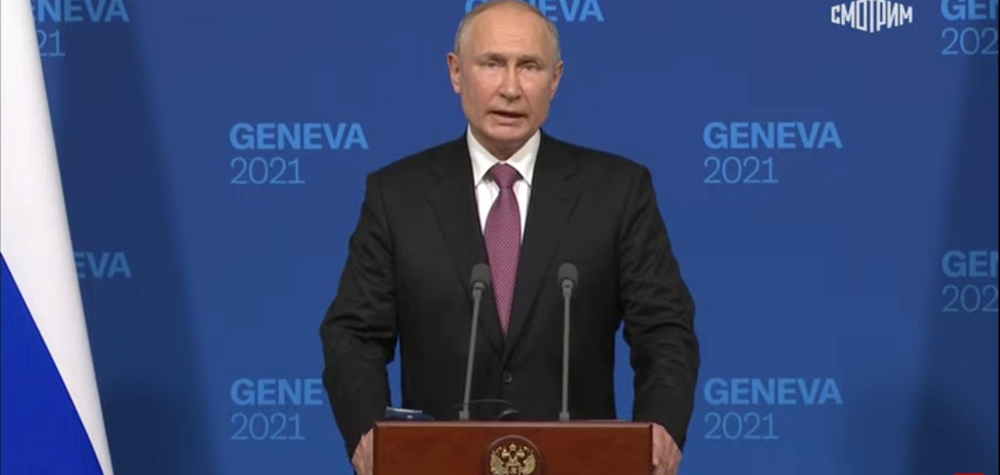 Путин на брифинге