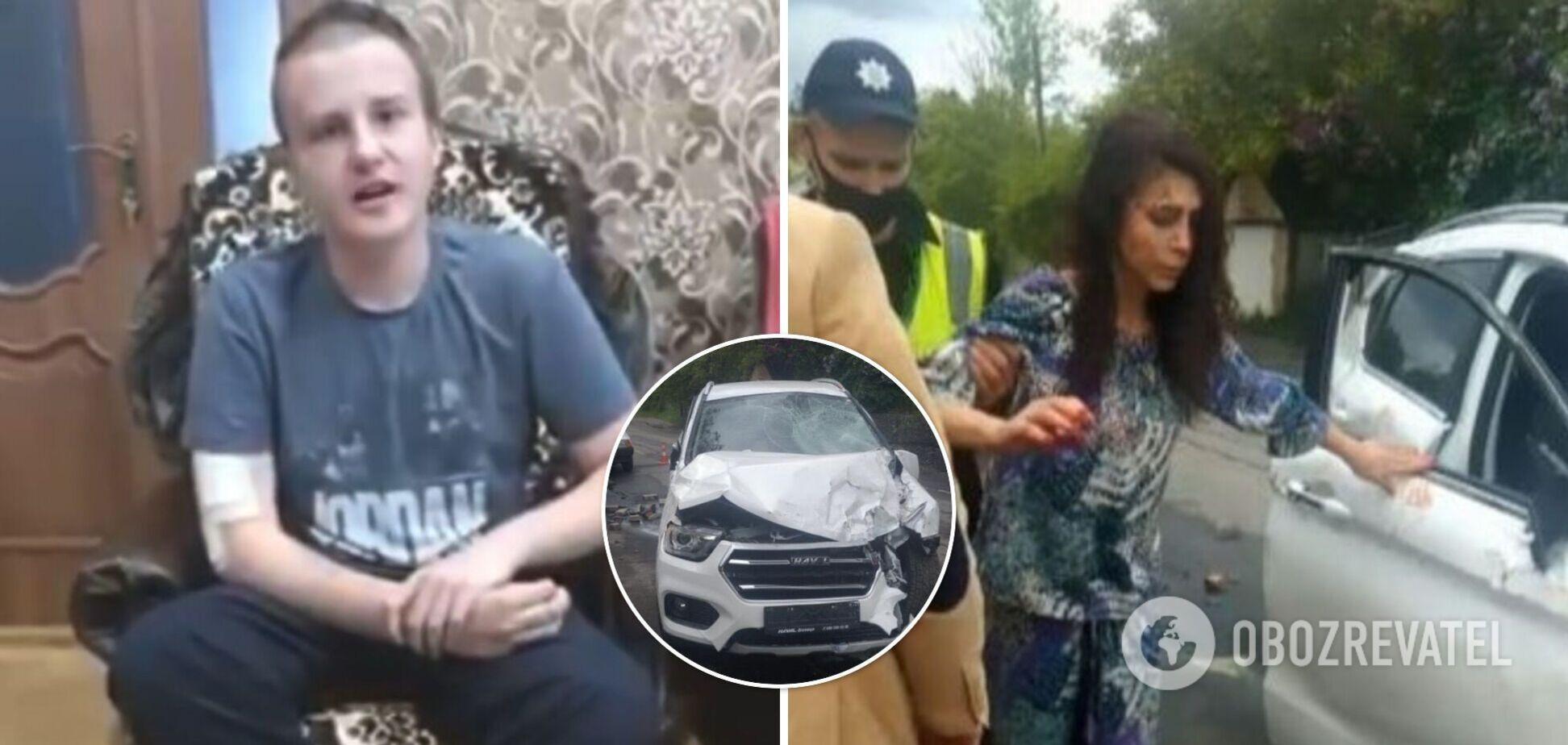 Мальчика, которого в Виннице сбила пьяная автоледи, выписали из больницы после комы. Подросток записал видеообращение