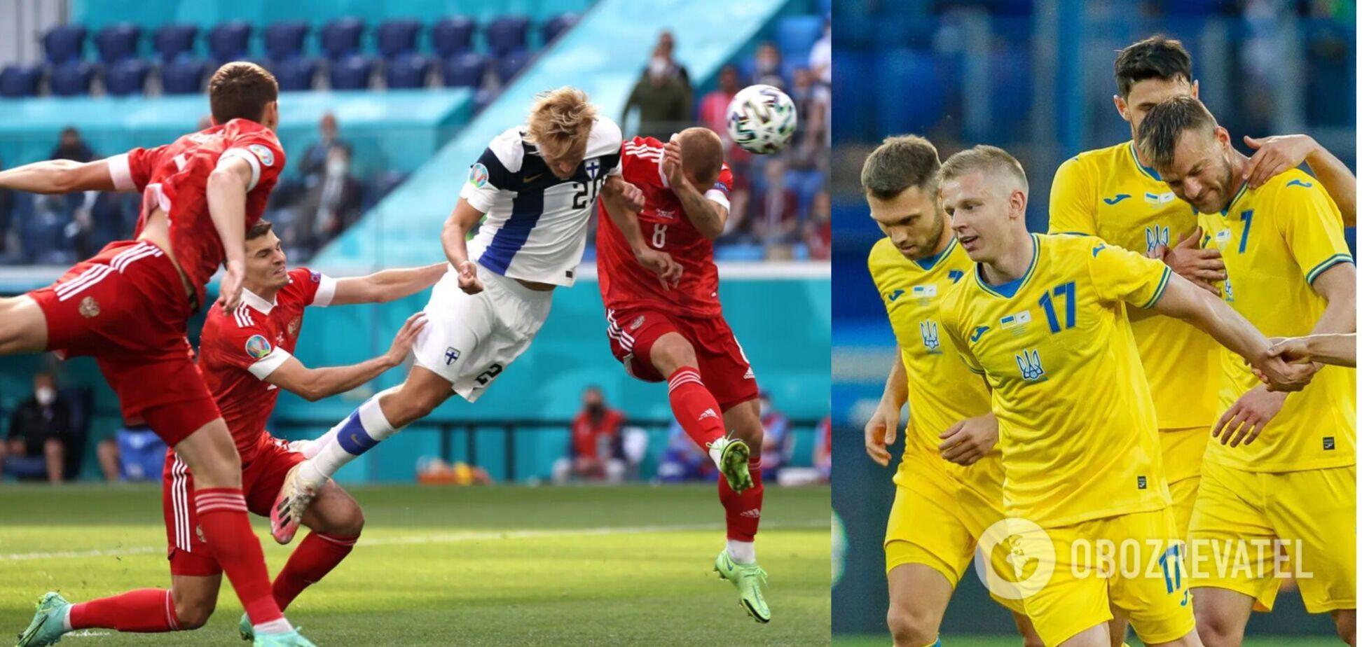 Українські футболісти дивилися гру Фінляндія - Росія