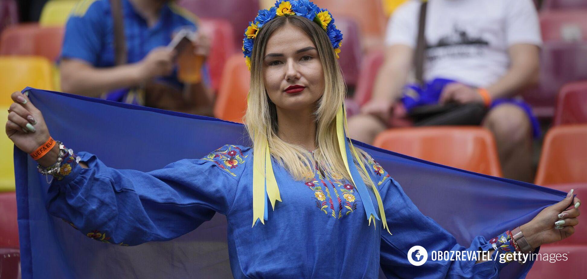 Українська вболівальниця на Євро-2020